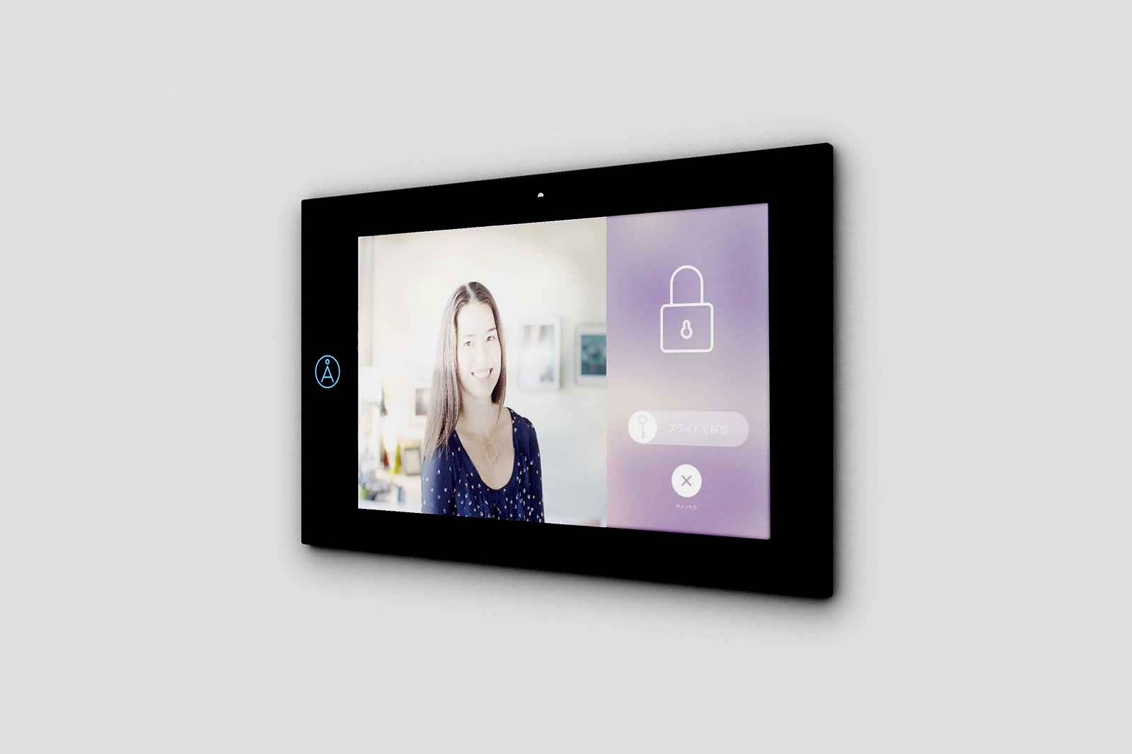 スマートドアホン「TATERU kit」イメージ(室内タブレット)